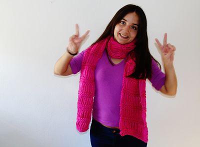 bufanda rosa 2